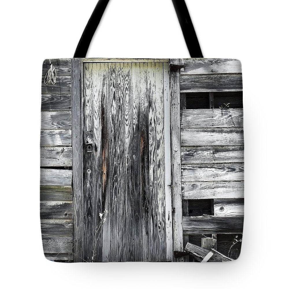 Old Door Tote Bag featuring the photograph Seabrook Used To Be Fun by Patricia Greer