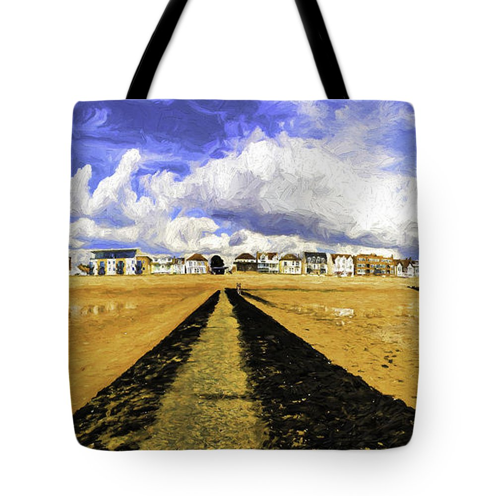 Southend On Sea Tote Bag featuring the photograph Seafront at Southend on Sea by Sheila Smart Fine Art Photography