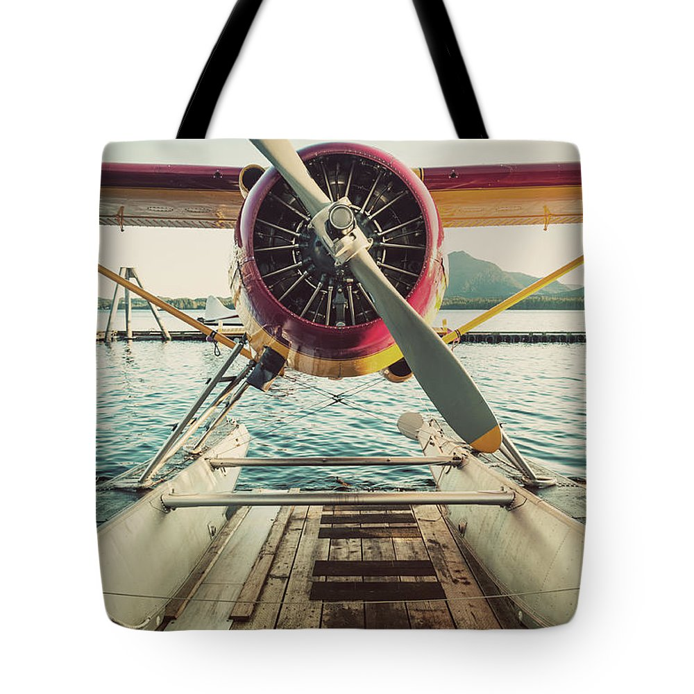 Propeller Tote Bag featuring the photograph Seaplane Dock by Shaunl