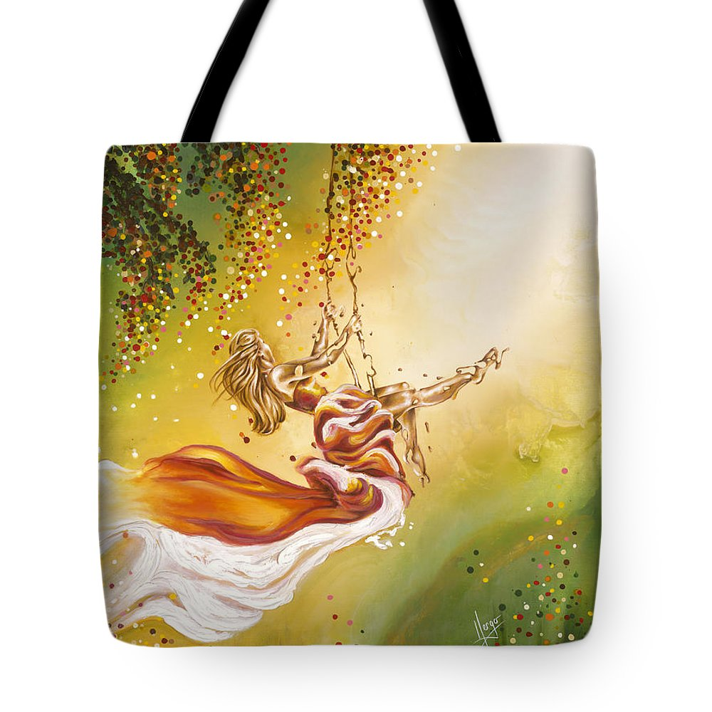 Karina Llergo Tote Bag featuring the painting Search For The Sun by Karina Llergo