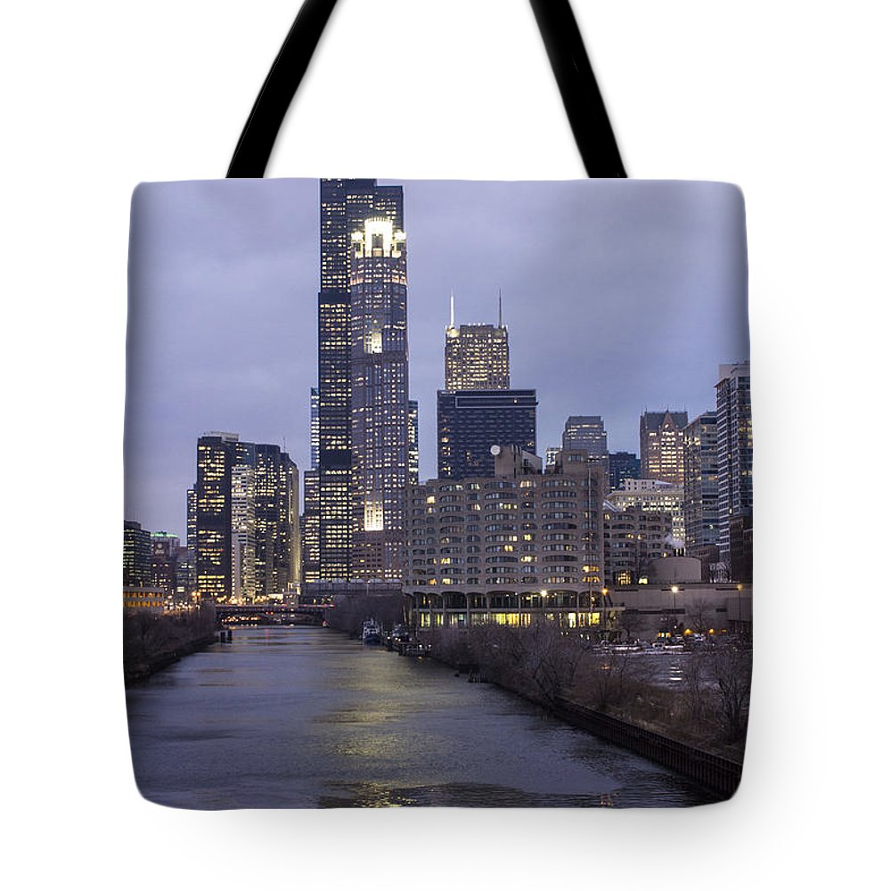 Chicago Tote Bag featuring the photograph Sears Tower Or Willis Tower by John McGraw