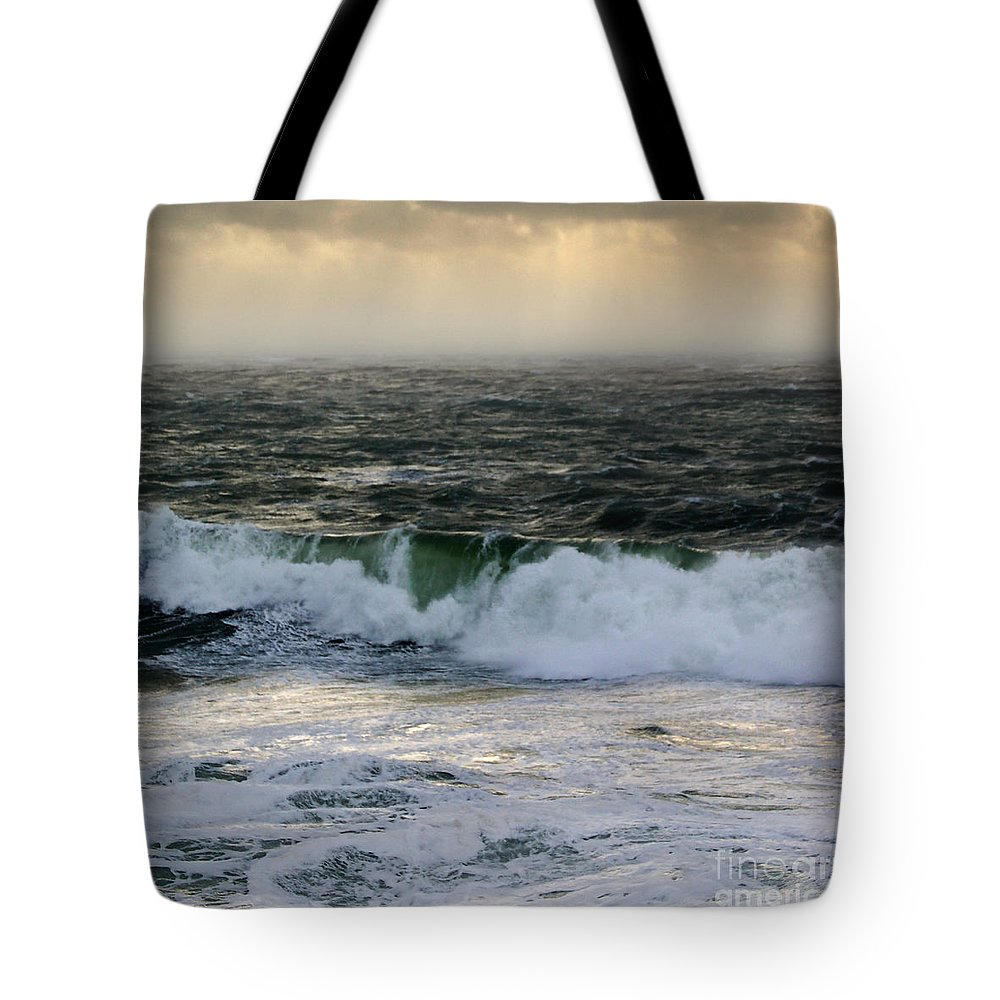 The Sound Tote Bag featuring the drawing Seascape 1b The Sound by Paul Davenport