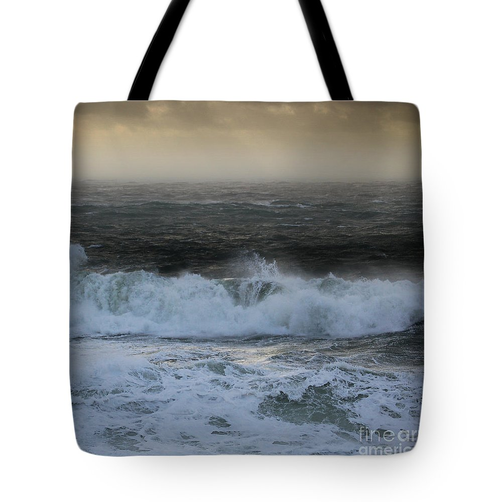The Sound Tote Bag featuring the photograph Seascape 2 The Sound by Paul Davenport