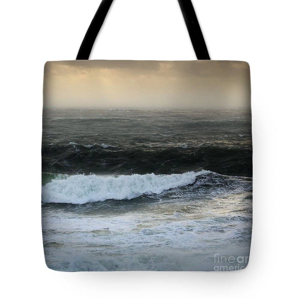 The Sound Tote Bag featuring the photograph Seascape 2a The Sound by Paul Davenport