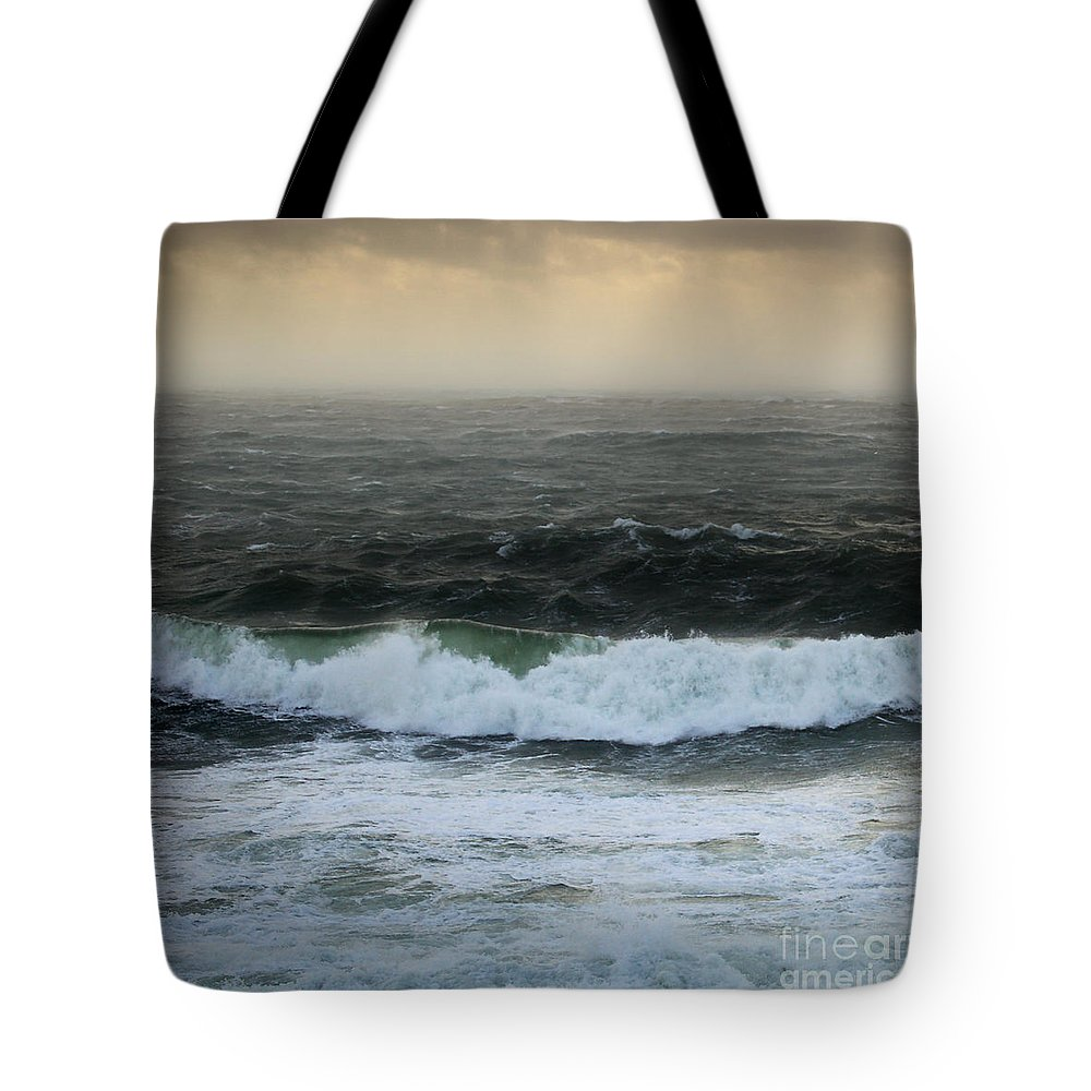 The Sound Tote Bag featuring the photograph Seascape 3b The Sound by Paul Davenport