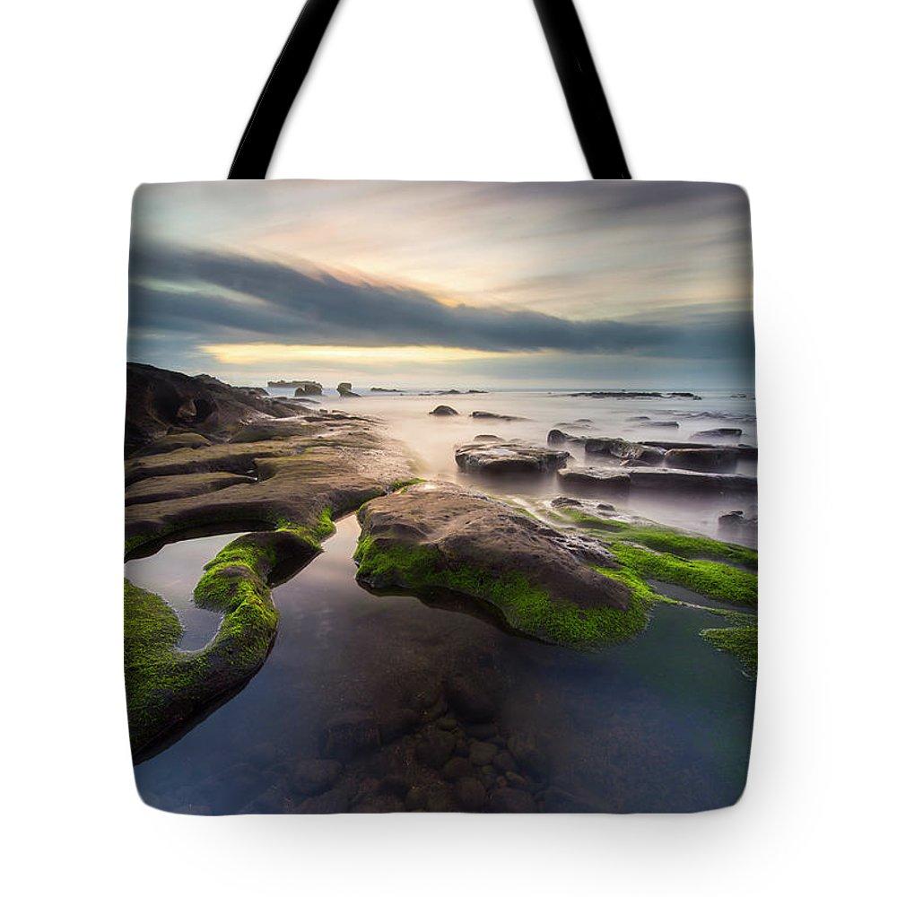Scenics Tote Bag featuring the photograph Seascape Bali by Www.tonnaja.com
