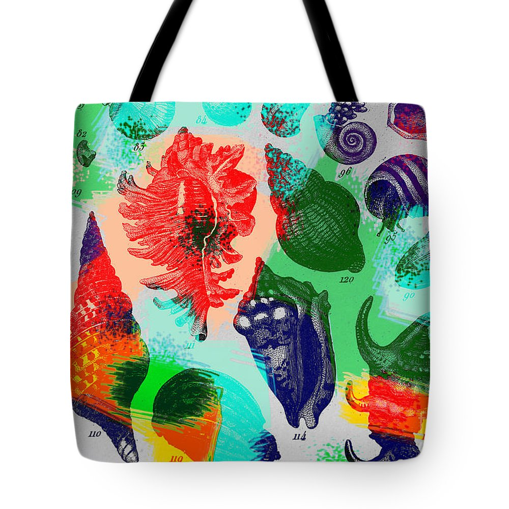 Sea Shells Tote Bag featuring the photograph Seashells by Dennis D Potokar