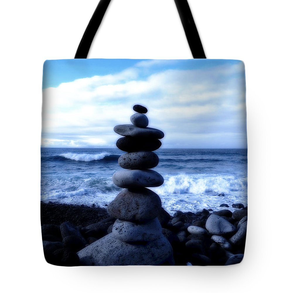 Sea Tote Bag featuring the photograph Seaside Serenity by Pixabay