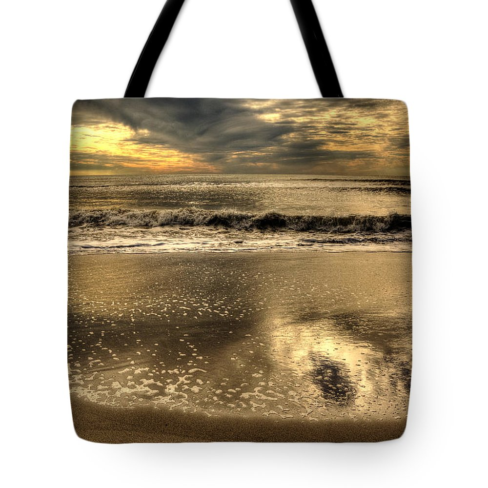 Swell Tote Bag featuring the photograph Seaside Sunset by Julis Simo