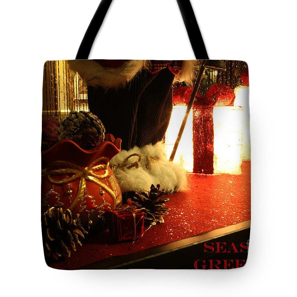 Christmas Tote Bag featuring the photograph Seasons Greetings by Terri Waters