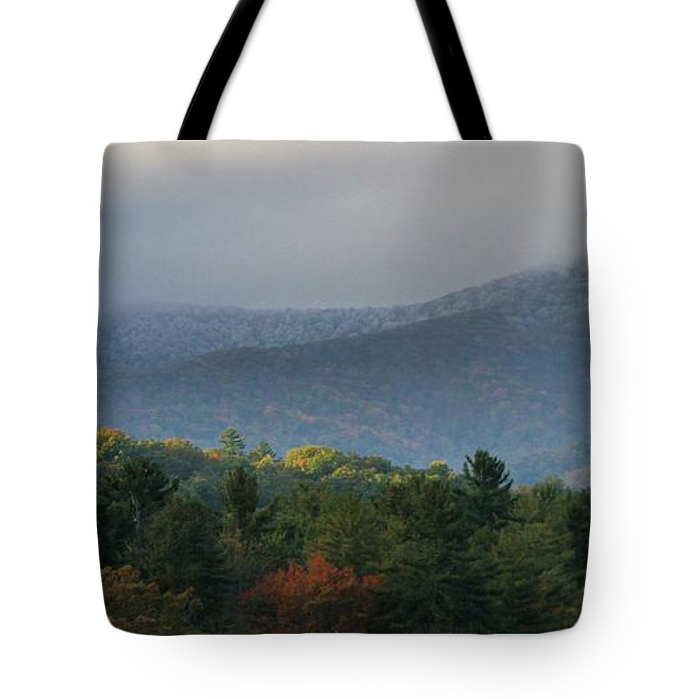 Seasons In The Smokies Tote Bag featuring the photograph Seasons In The Smokies by Dan Sproul