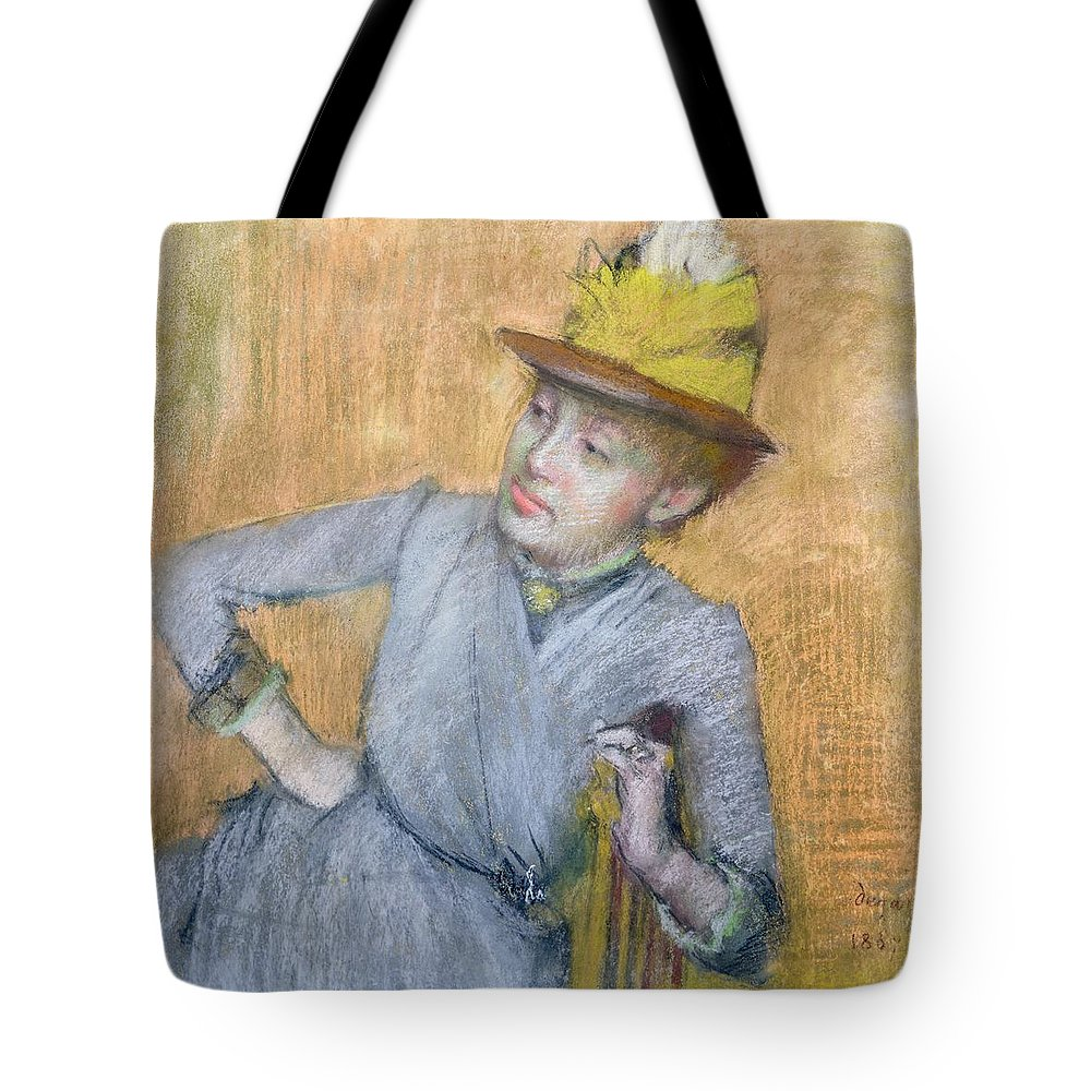 Sitting Tote Bag featuring the pastel Seated Woman by Edgar Degas