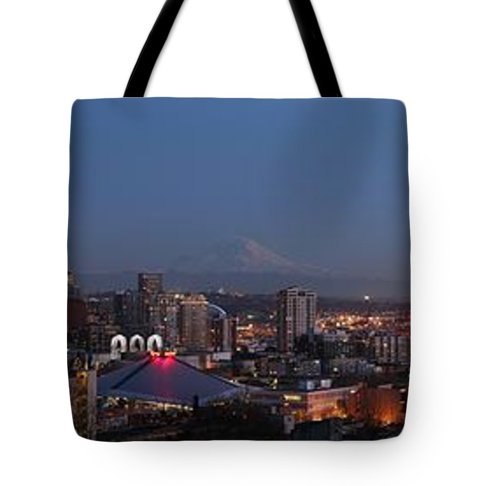 Seattle Tote Bag featuring the photograph Seattle City by Georgia Fowler