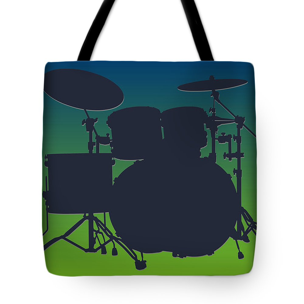 Seahawks Tote Bag featuring the photograph Seattle Seahawks Drum Set by Joe Hamilton