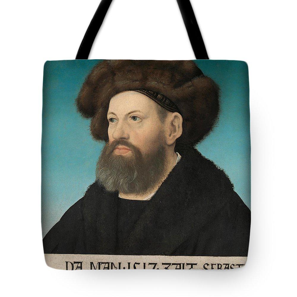 Hans Maler Tote Bag featuring the painting Sebastian Andorfer by Hans Maler