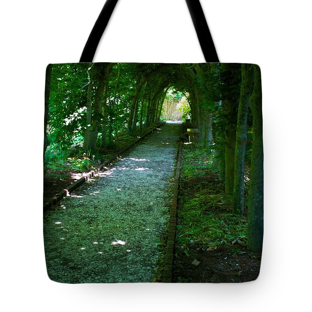 Secret Garden Tote Bag featuring the photograph Secret Garden by Allan Morrison