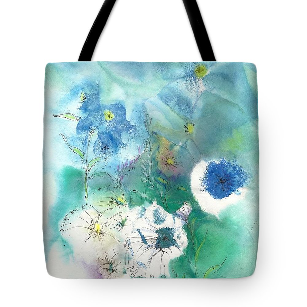 Watercolor Tote Bag featuring the painting Secret Garden by Joan Hartenstein
