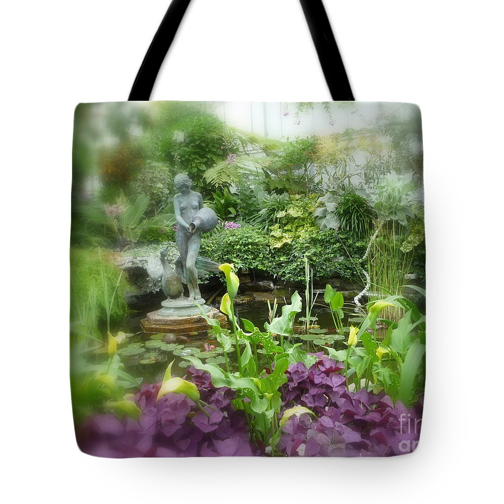 Beautiful Garden Tote Bag featuring the photograph Secret Garden by Lingfai Leung