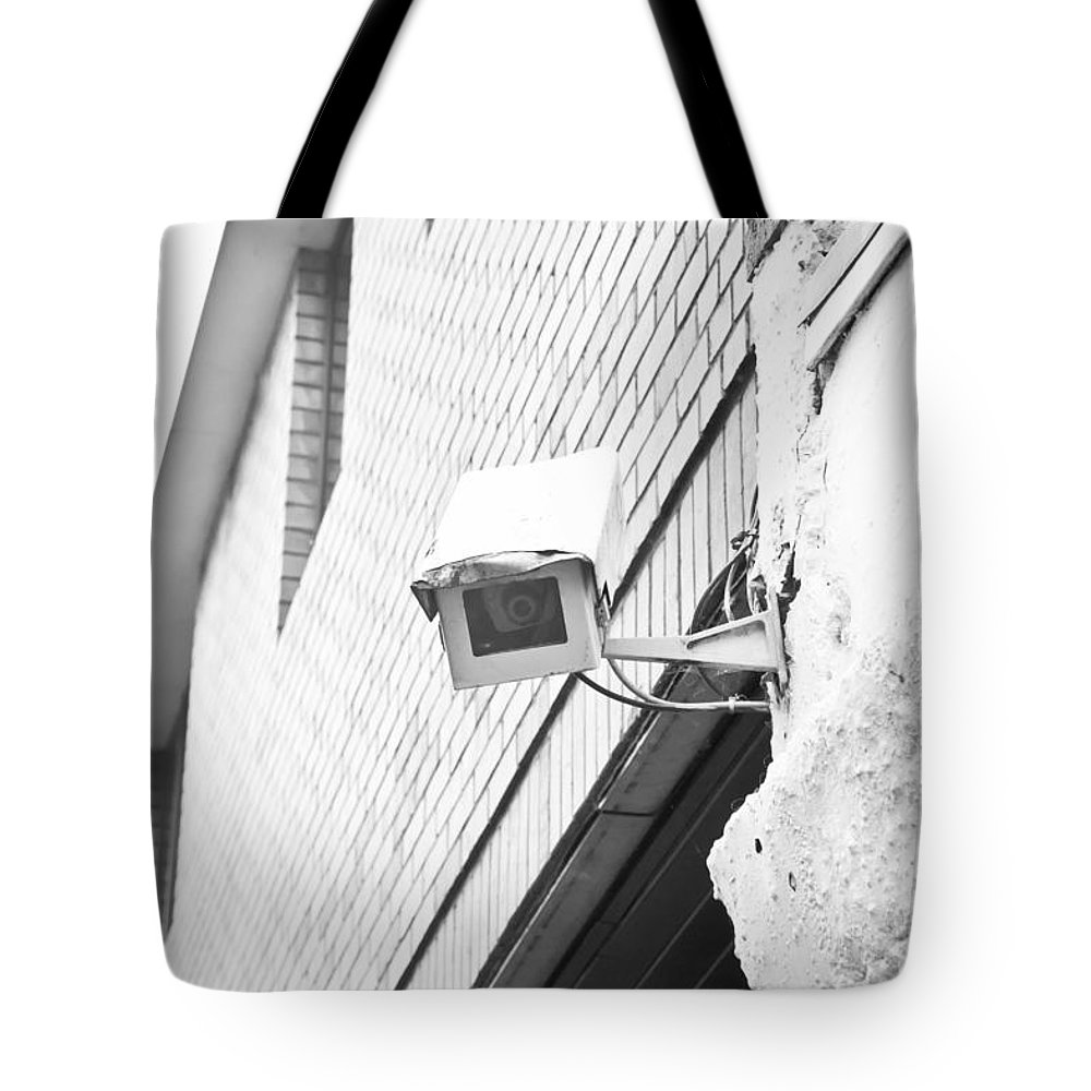Big Tote Bag featuring the photograph Security Camera by Tom Gowanlock