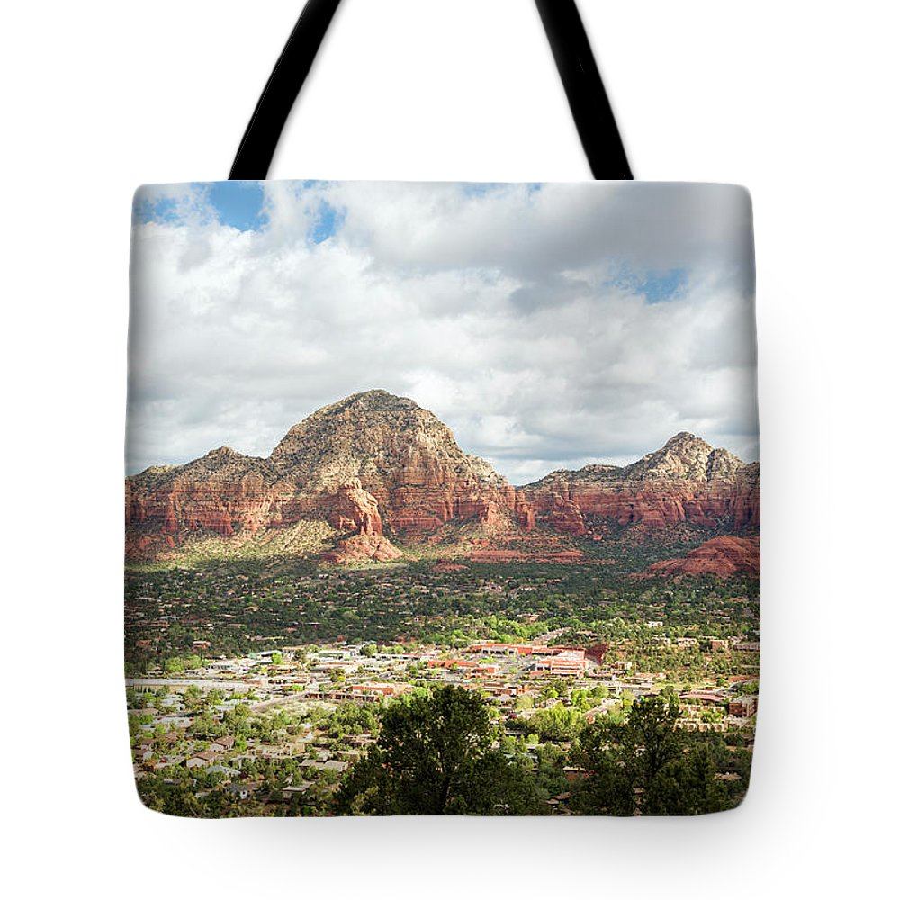 Scenics Tote Bag featuring the photograph Sedona, Arizona, From Above by Picturelake