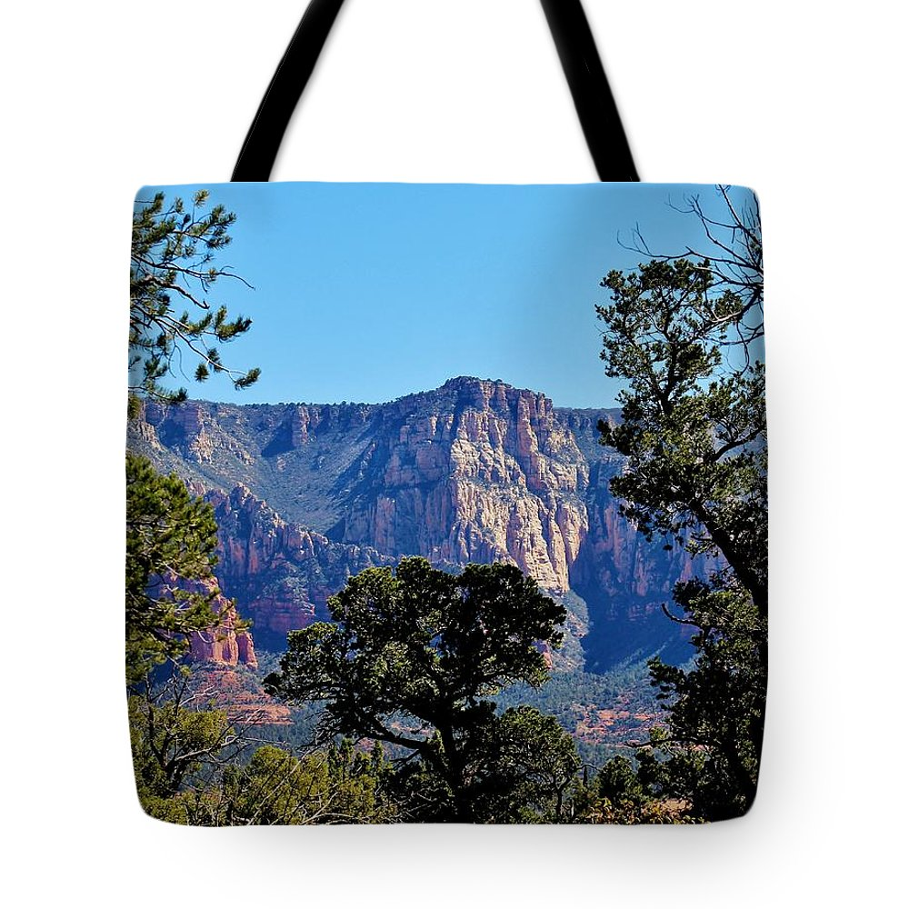 Nature Tote Bag featuring the photograph Sedona Landscape 031015aa by Edward Dobosh