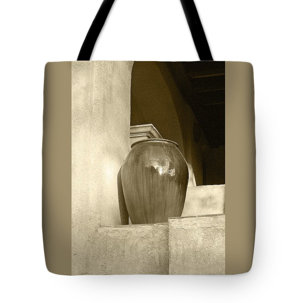Architecture Tote Bag featuring the photograph Sedona Series - Jug In Sepia by Ben and Raisa Gertsberg