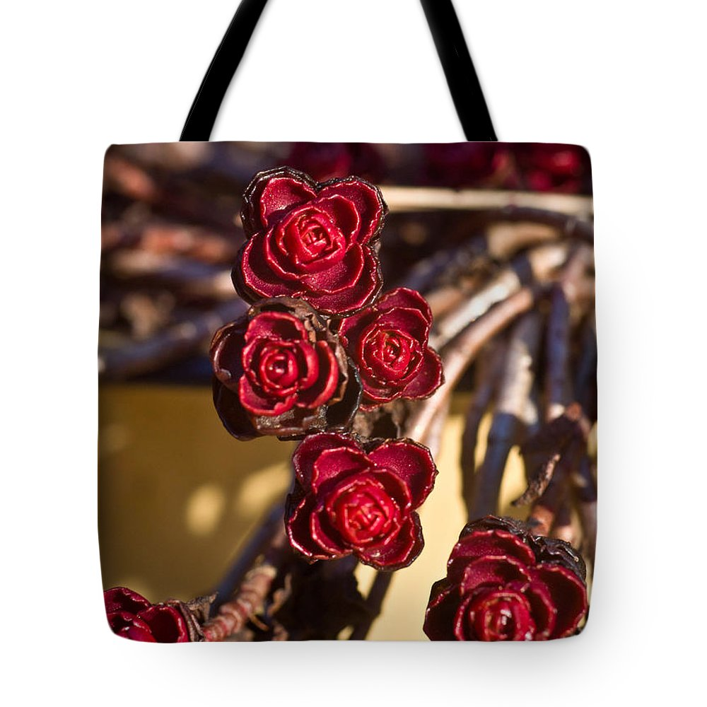 Flowering Tote Bag featuring the photograph Sedum Rosettes 2 by Douglas Barnett