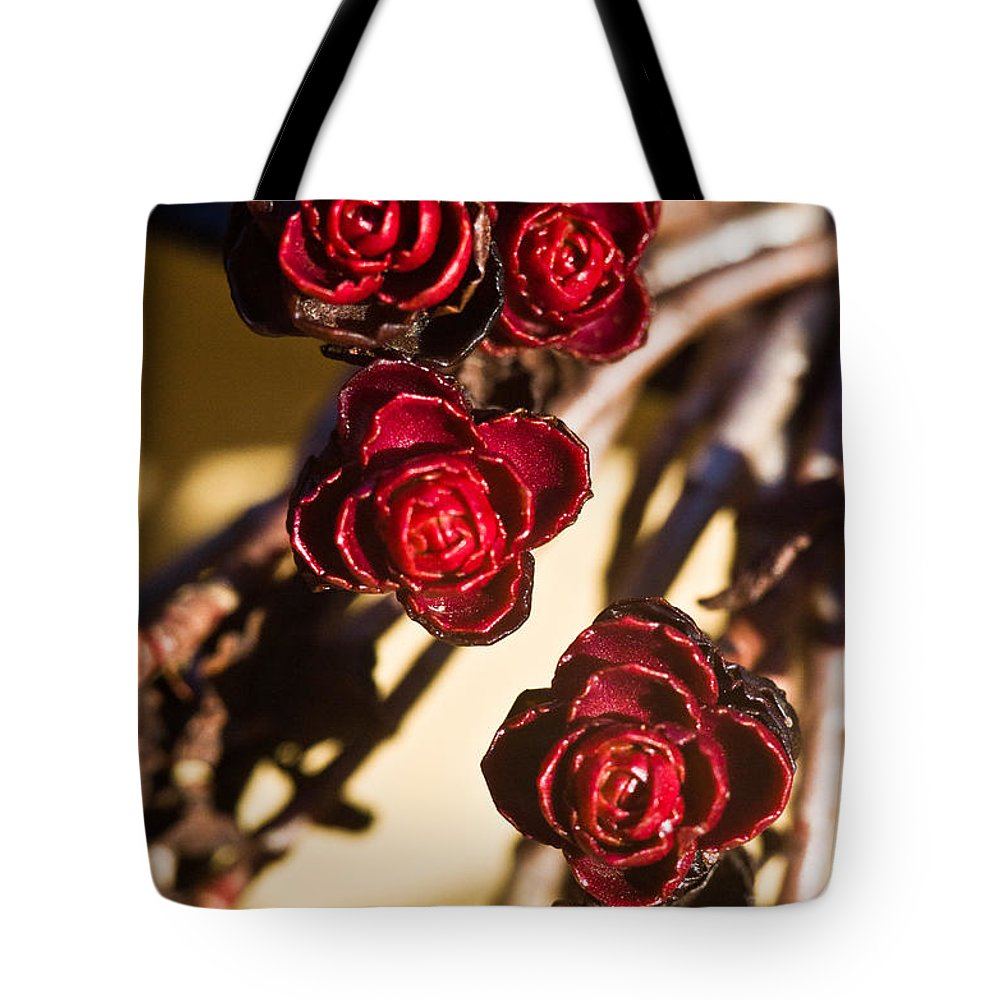 Flowering Tote Bag featuring the photograph Sedum Rosettes 3 by Douglas Barnett