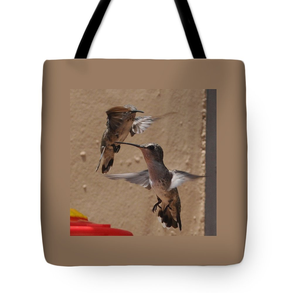 Hummingbird Tote Bag featuring the photograph See You Later by Jay Milo