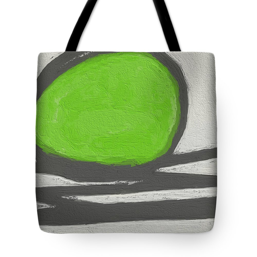 Abstract Tote Bag featuring the painting Seed by Linda Woods