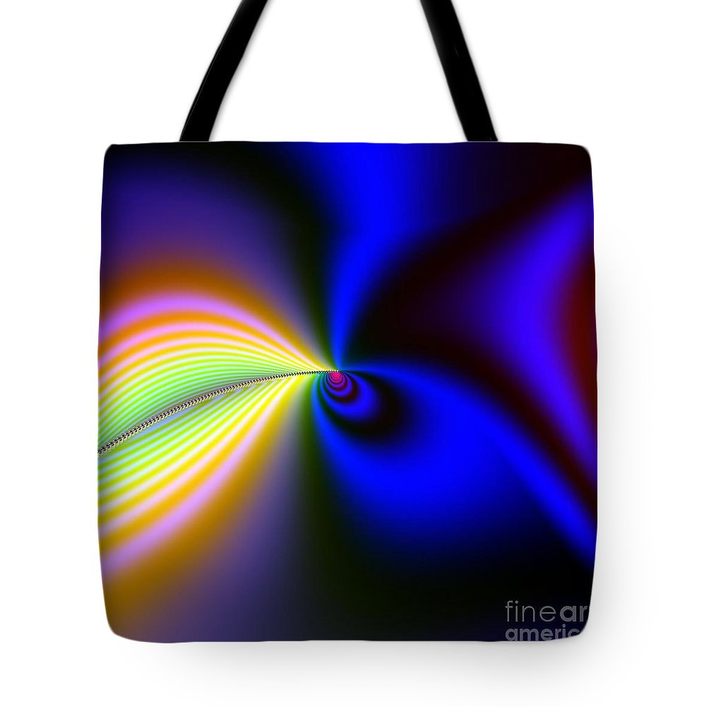 Peter R Nicholls Abstract Fine Artist Canada Tote Bag featuring the digital art Seed Of Life by Peter R Nicholls