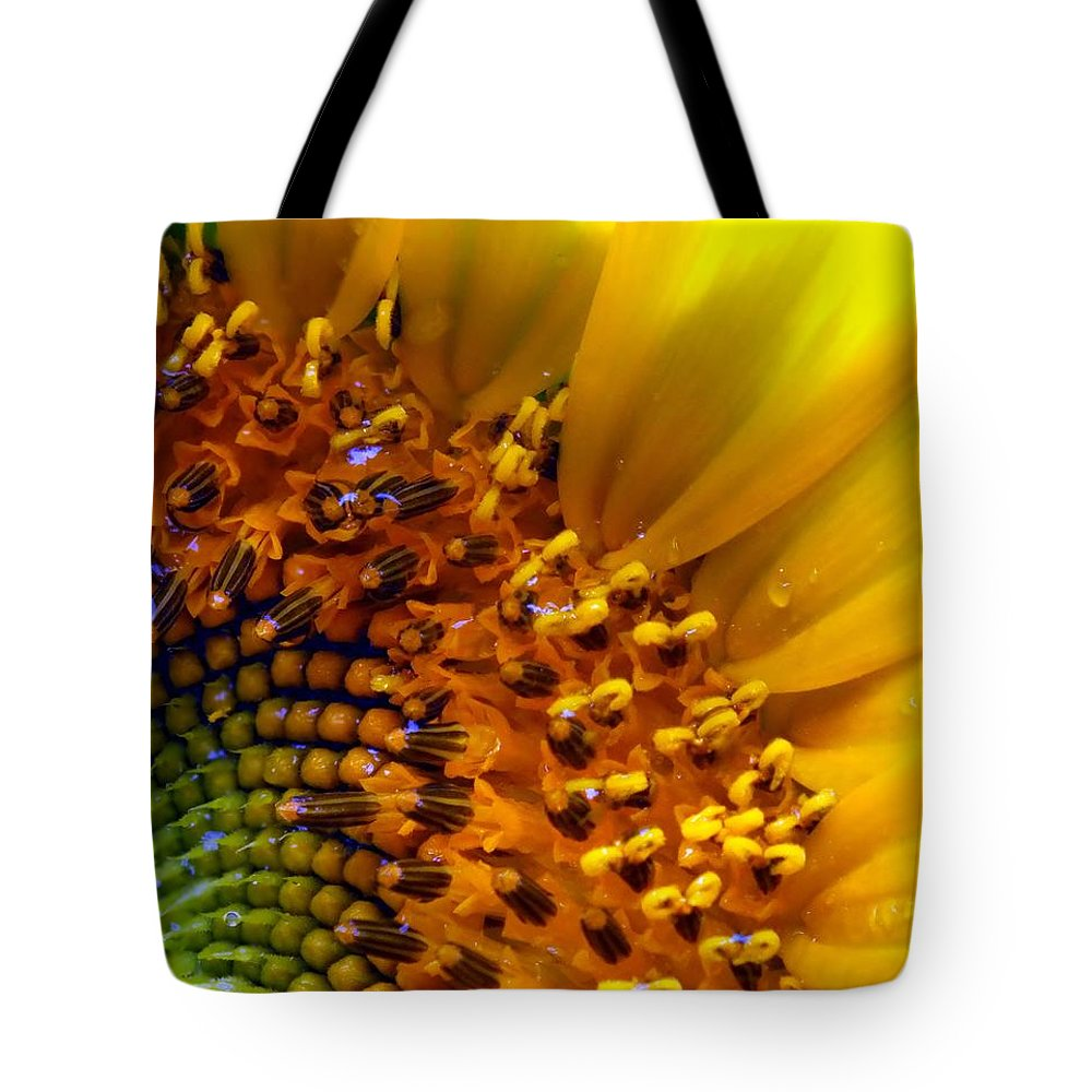 Yellow Tote Bag featuring the photograph Seeds Of Sunshine by Karen Wiles