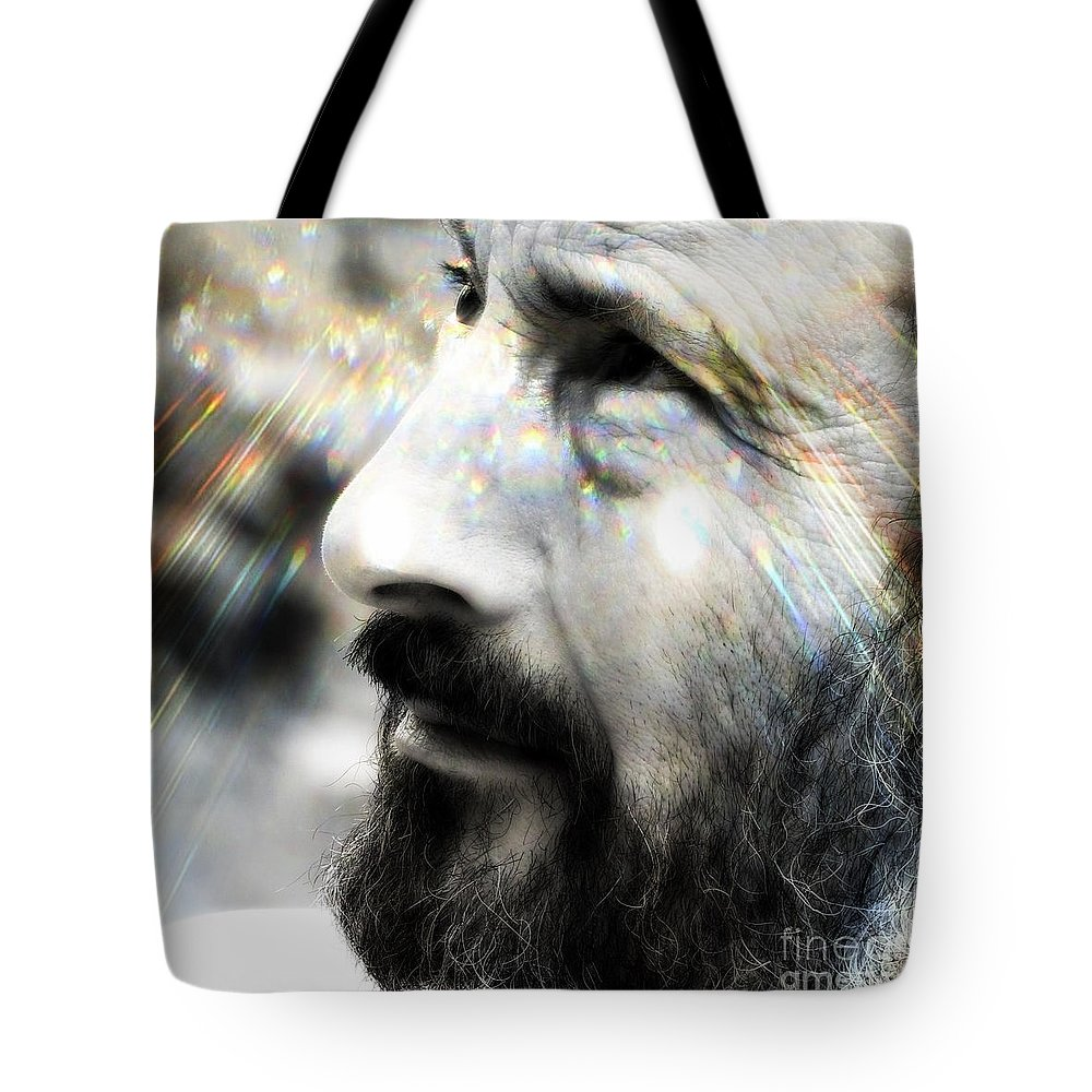 Man Tote Bag featuring the photograph Seeing Into The Future 2 by Rory Sagner