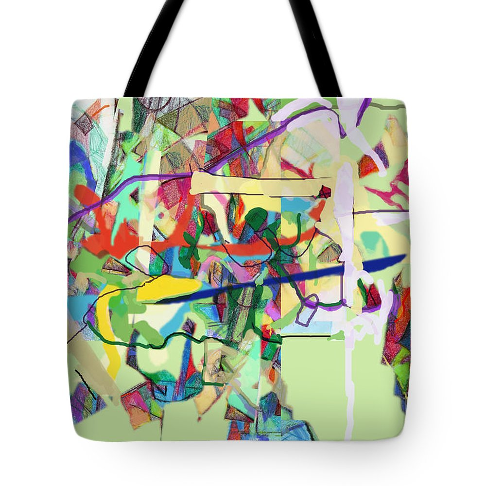 Torah Tote Bag featuring the digital art Seeker Being Sought 1d by David Baruch Wolk