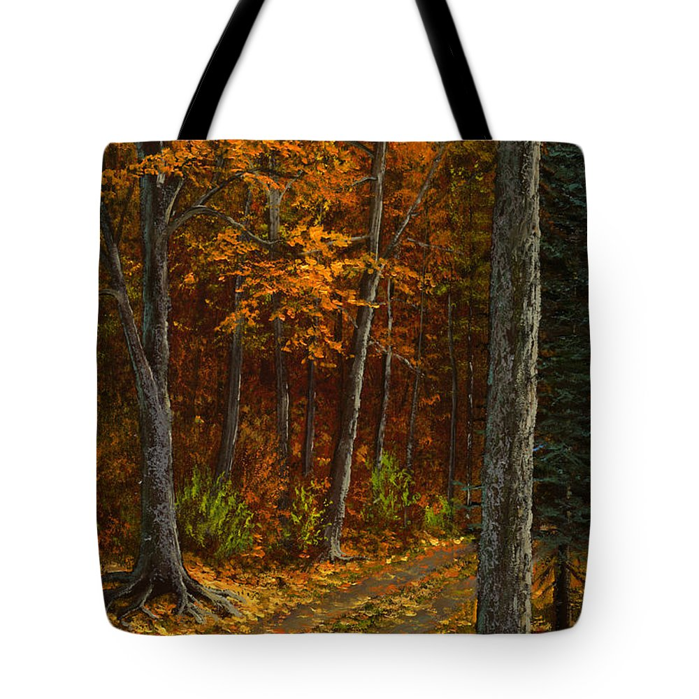 Landscape Tote Bag featuring the painting Seldom Used by Frank Wilson
