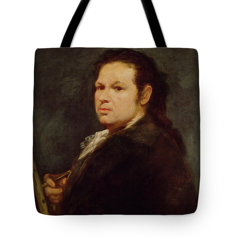 Male Tote Bag featuring the painting Self Portrait by Goya