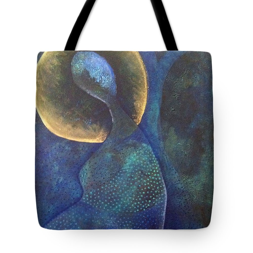 Acrylic Tote Bag featuring the painting Self Portrait II by Indigo Carlton