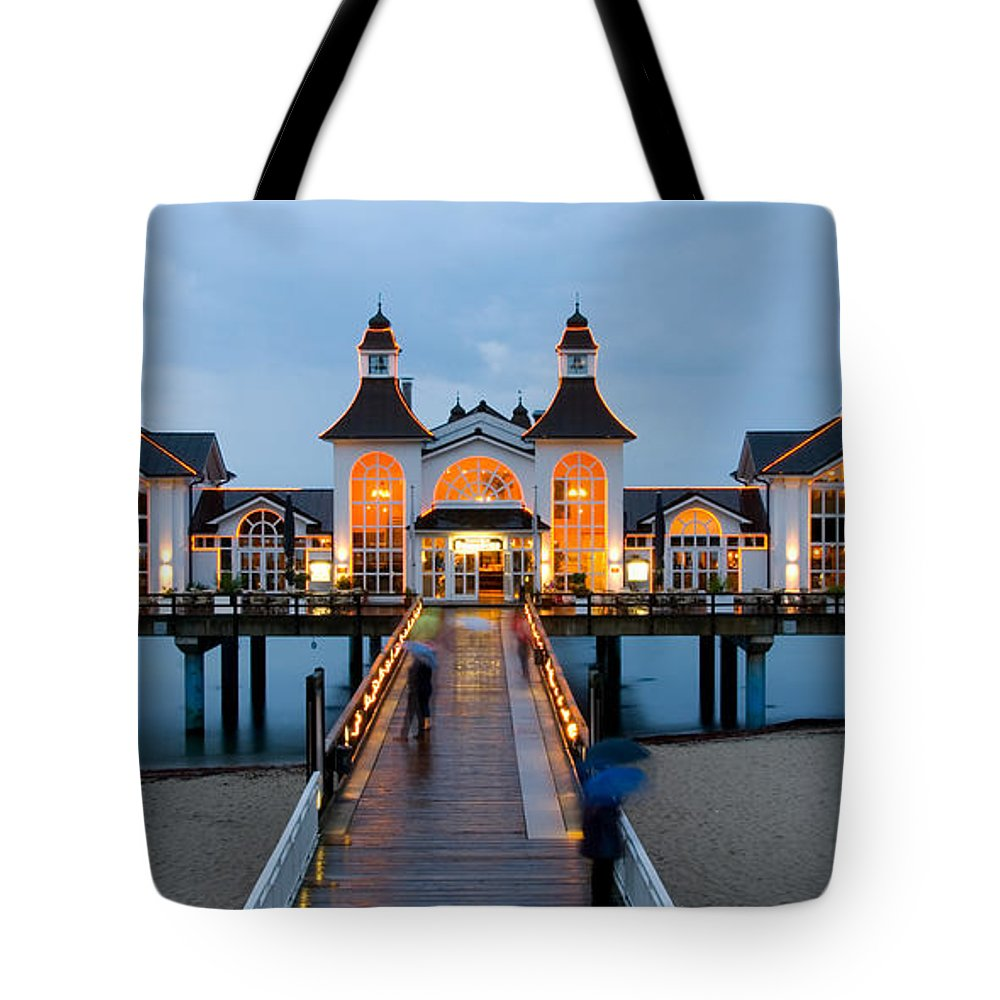 Ostsee Tote Bag featuring the pyrography Sellin by Steffen Gierok
