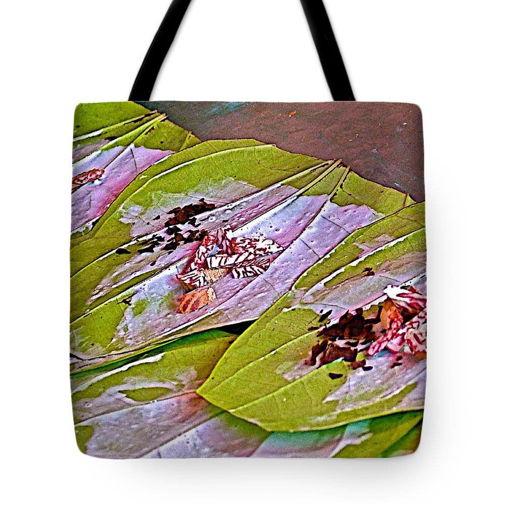 Veggies In Marketplace In Tachilek Tote Bag featuring the photograph Selling Betel Nut For Chewing In Tachilek-burma by Ruth Hager