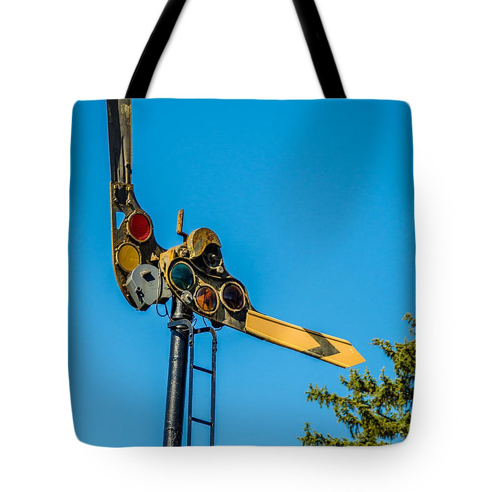 Eden Center Tote Bag featuring the photograph Semaphore by Guy Whiteley