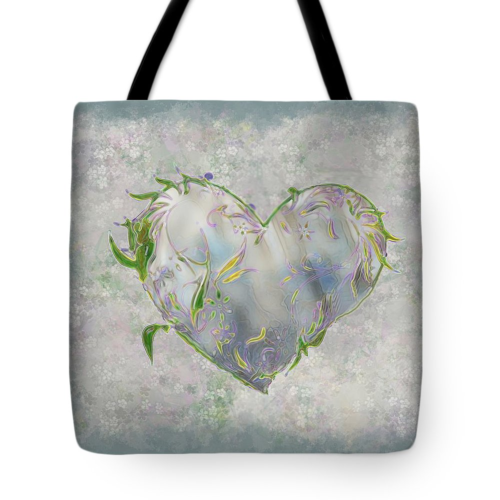 Heart Tote Bag featuring the painting Sending Out New Shoots by RC DeWinter