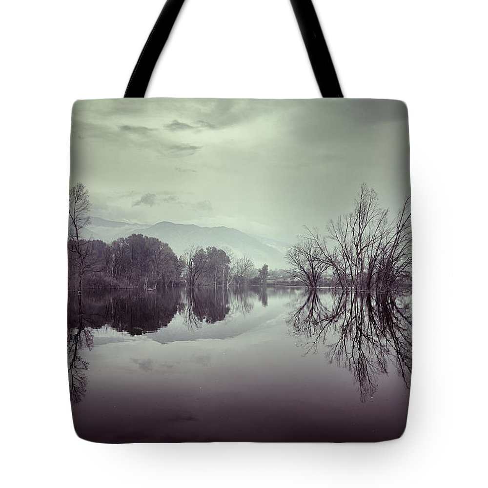 Lake Tote Bag featuring the photograph Sensations by Guido Montanes Castillo