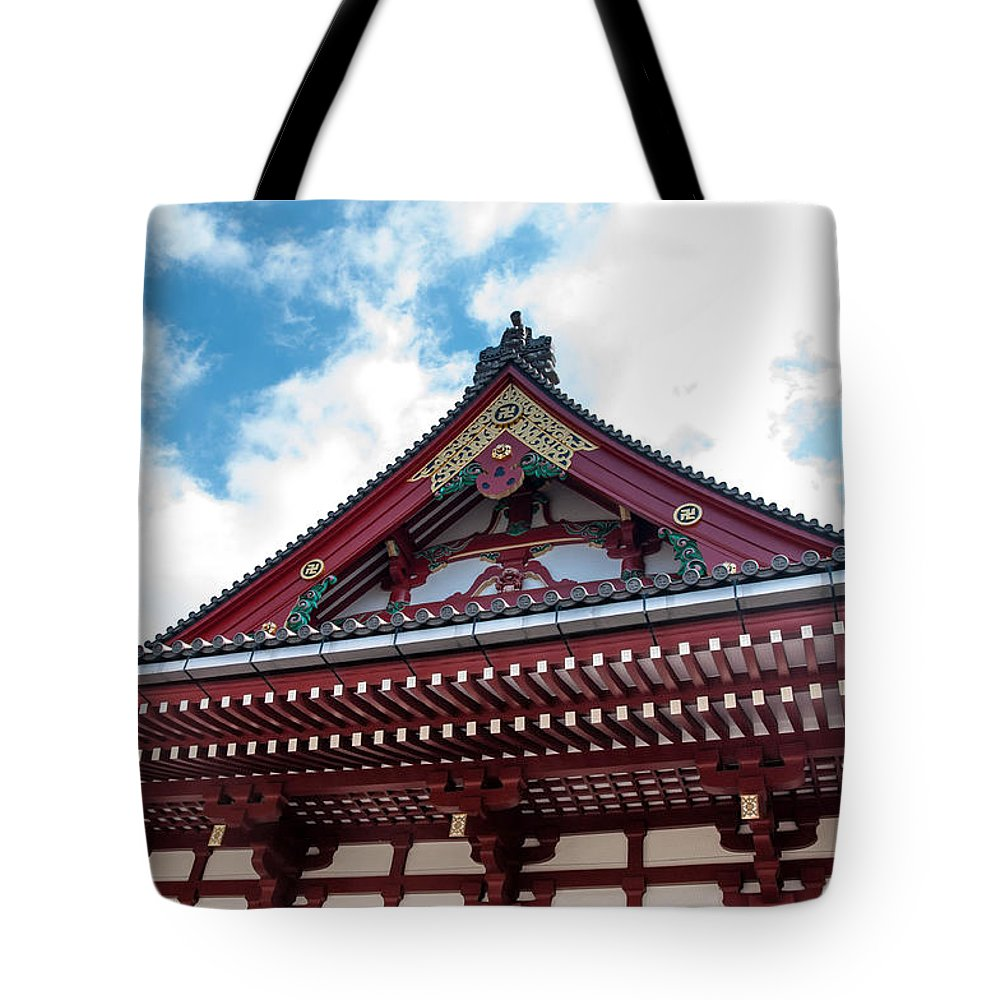 Asakusa District Tote Bag featuring the photograph Sensoji Temple by Guy Whiteley