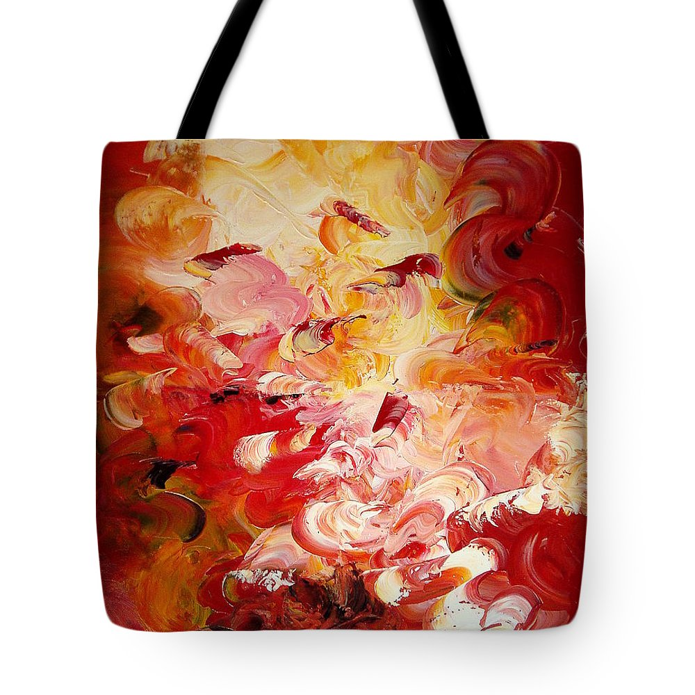 Abstract Tote Bag featuring the painting Senteurs Exquises by Isabelle Vobmann