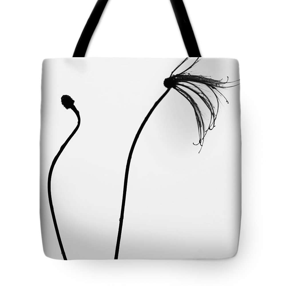 Flower Tote Bag featuring the photograph Separate Growth by The Artist Project