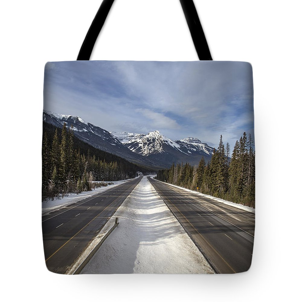 Banff Tote Bag featuring the photograph Separate Ways by Evelina Kremsdorf