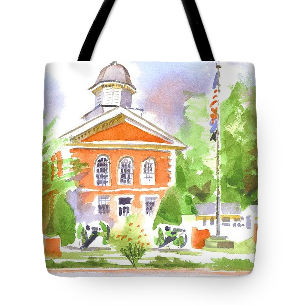 September Saturday Tote Bag featuring the painting September Saturday by Kip DeVore