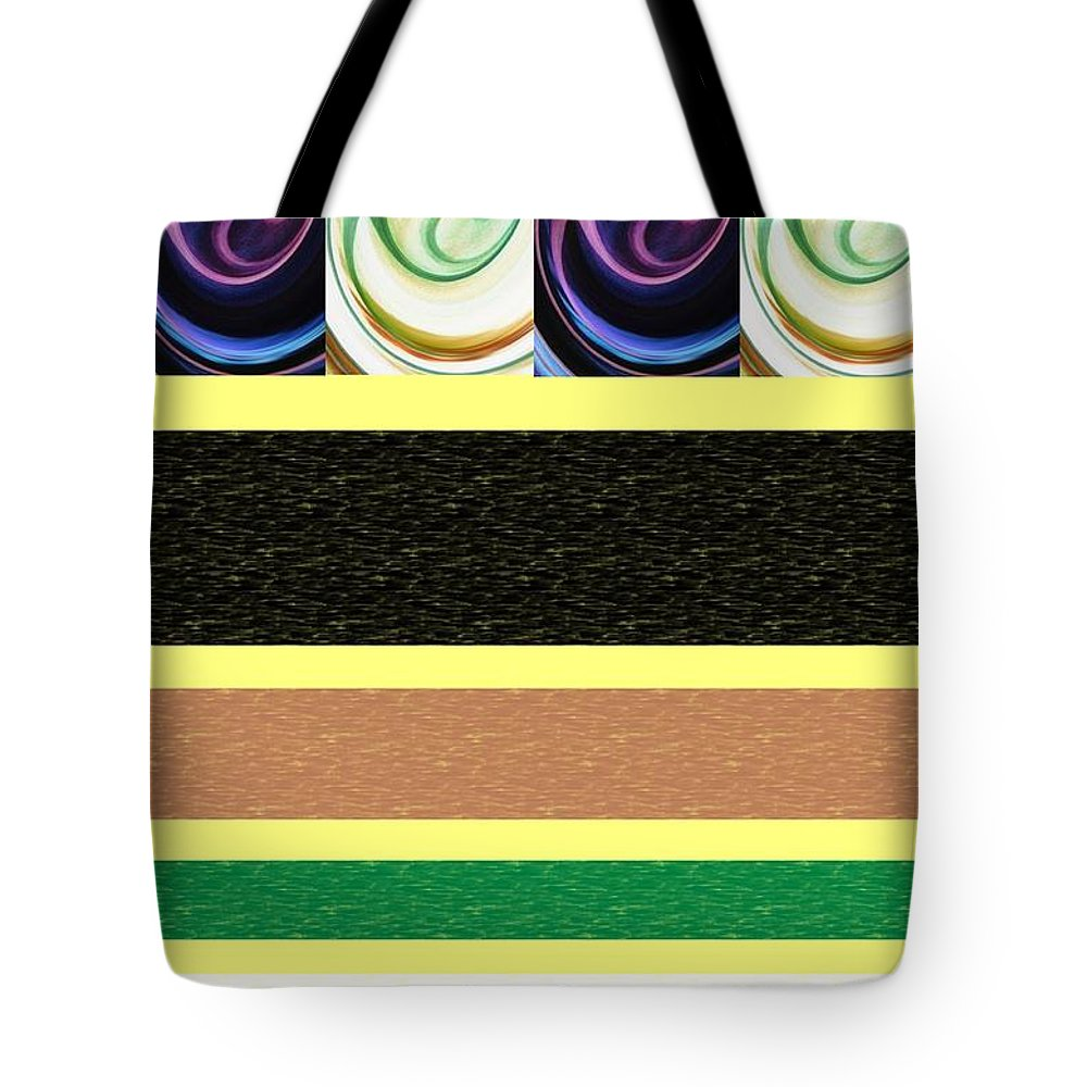 Modern Tote Bag featuring the mixed media Sequence by Ann Calvo