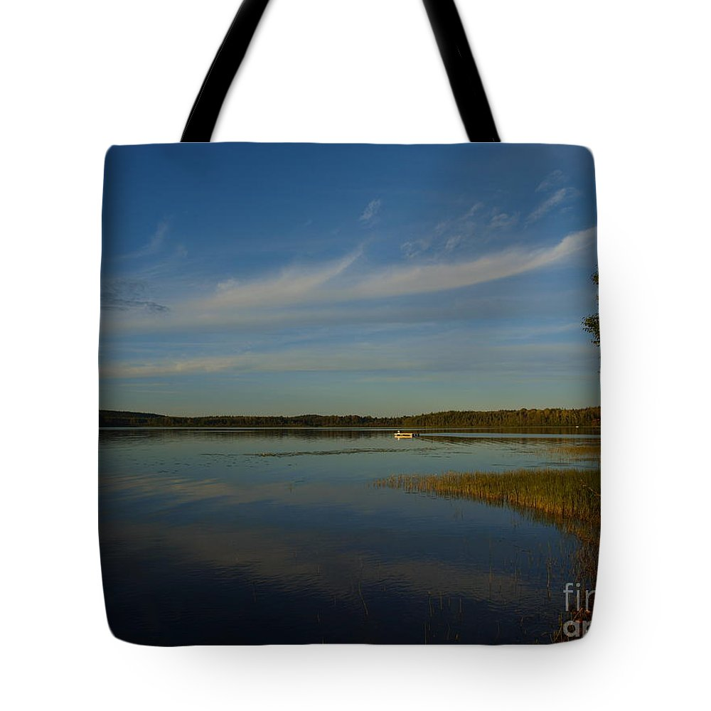 Clouds Tote Bag featuring the photograph Serene Dive by Vivian Martin