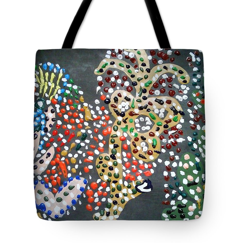 Abstract Impressionism Tote Bag featuring the painting Serenity by Fatiha Boudar